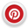 Pinterest logo in a small circle
